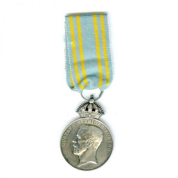 Gustav V Olympic Medal 1912 silver scarce 1