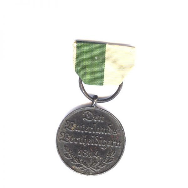 Waterloo Campaign medal  1815 blackened  iron 2