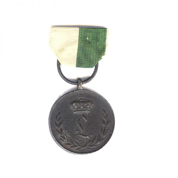 Waterloo Campaign medal  1815 blackened  iron 1