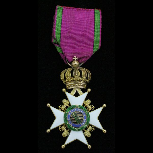 Saxe Ernestine House Order 2nd type  Knight in gold 1