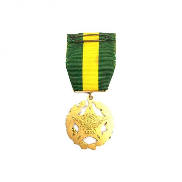 L.S.G.C. Decoration 1901 large type gilt with 4 star ribbon bar(L21282... 2