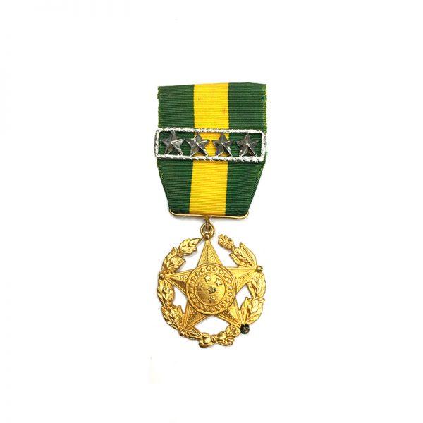 L.S.G.C. Decoration 1901 large type gilt with 4 star ribbon bar(L21282... 1