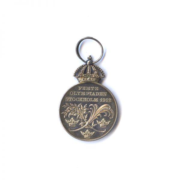 Gustav V Olympic Medal 1912 silver scarce (n.r.) 2