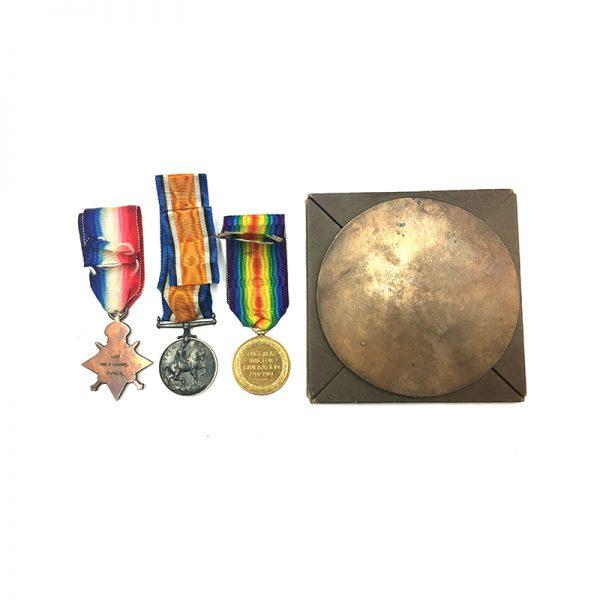 Trio and Plaque Gaza 1917 Essex Regt 2