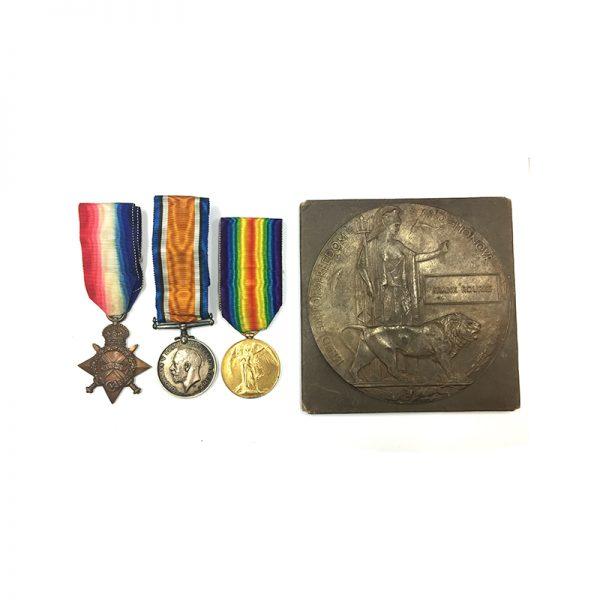 Trio and Plaque Gaza 1917 Essex Regt 1