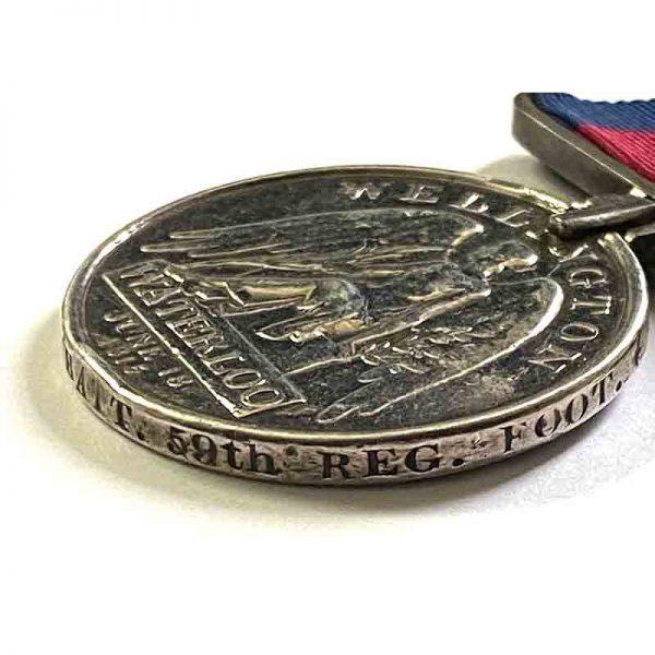 Waterloo Medal 2nd 59th Regt 4