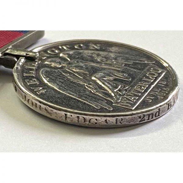 Waterloo Medal 2nd 59th Regt 3