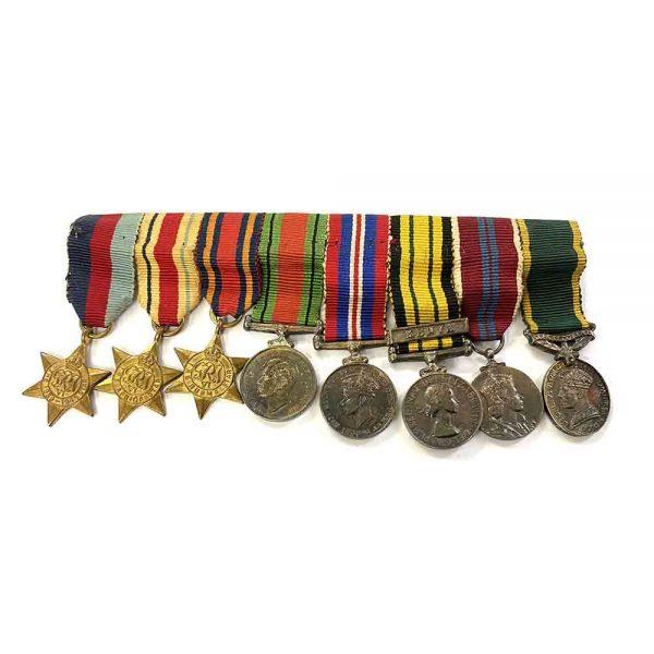 Miniatures of Capt E.D.P. Harley Kenya Regt 1