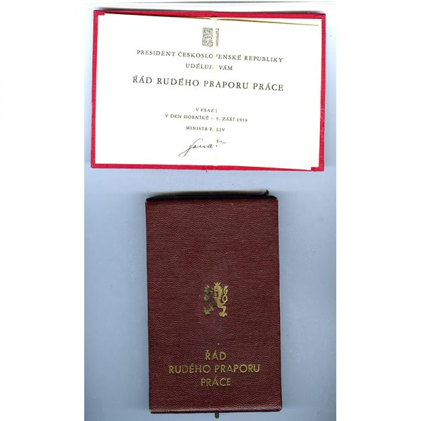 Order of the Flag of Labour with original award book and in... 3