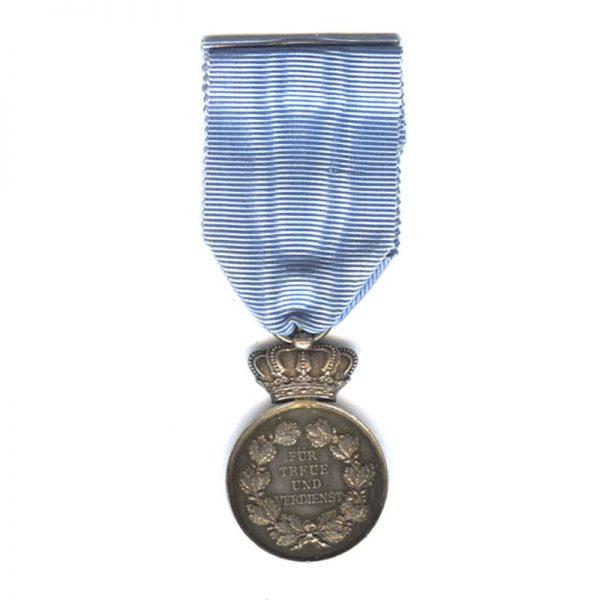 Civil Merit Medal silver on blue ribbon for Mens Faithful Service 1905-1918... 2