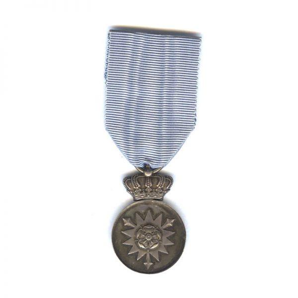 Civil Merit Medal silver on blue ribbon for Mens Faithful Service 1905-1918... 1