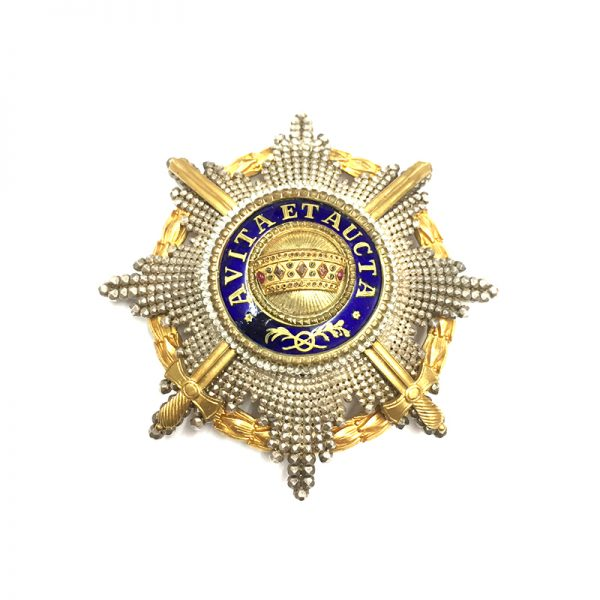 Order of the Iron Crown Grand Cross breast star with War Decoration... 1