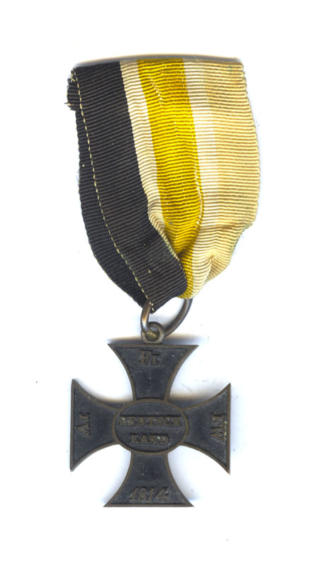 Waterloo Merit Cross for the Officers of the Line 1814-1815 in blackened... 1