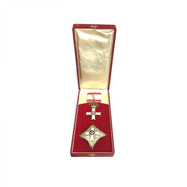 Military Order of Malta Grand Officer breast star 5