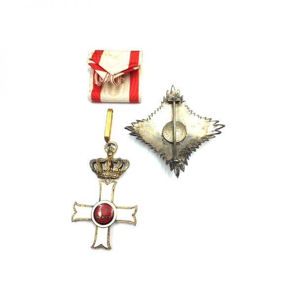 Military Order of Malta Grand Officer breast star 2