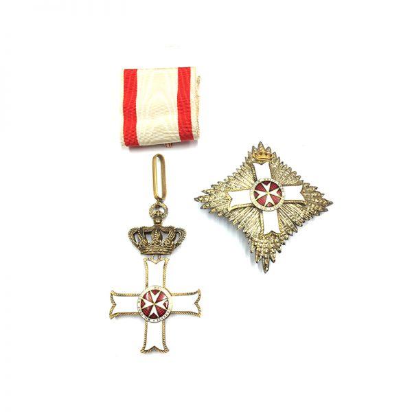Military Order of Malta Grand Officer breast star 1