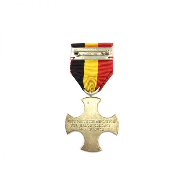 Idi Amin Era Presidents Commendation for Brave Conduct and 2