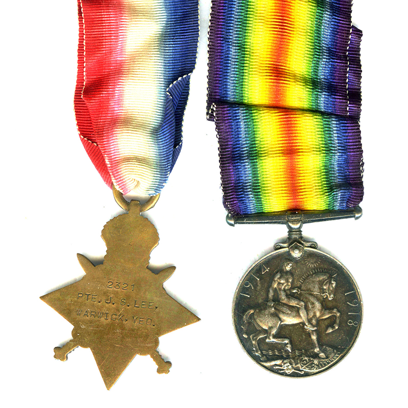 1914-15 Star and BWM Warwick Yeomanry 2