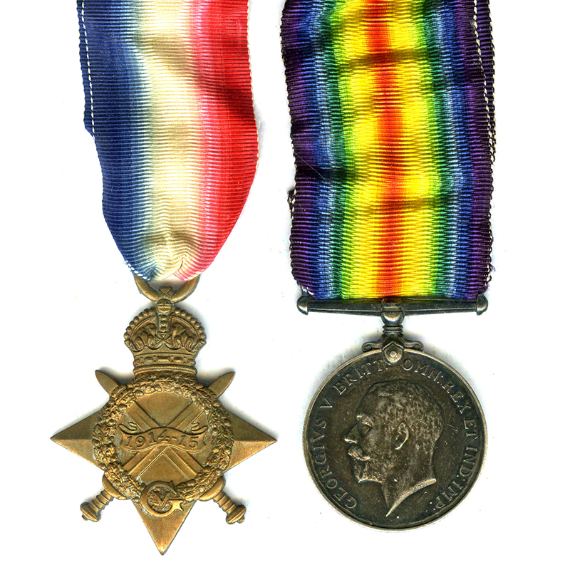 1914-15 Star and BWM Warwick Yeomanry 1
