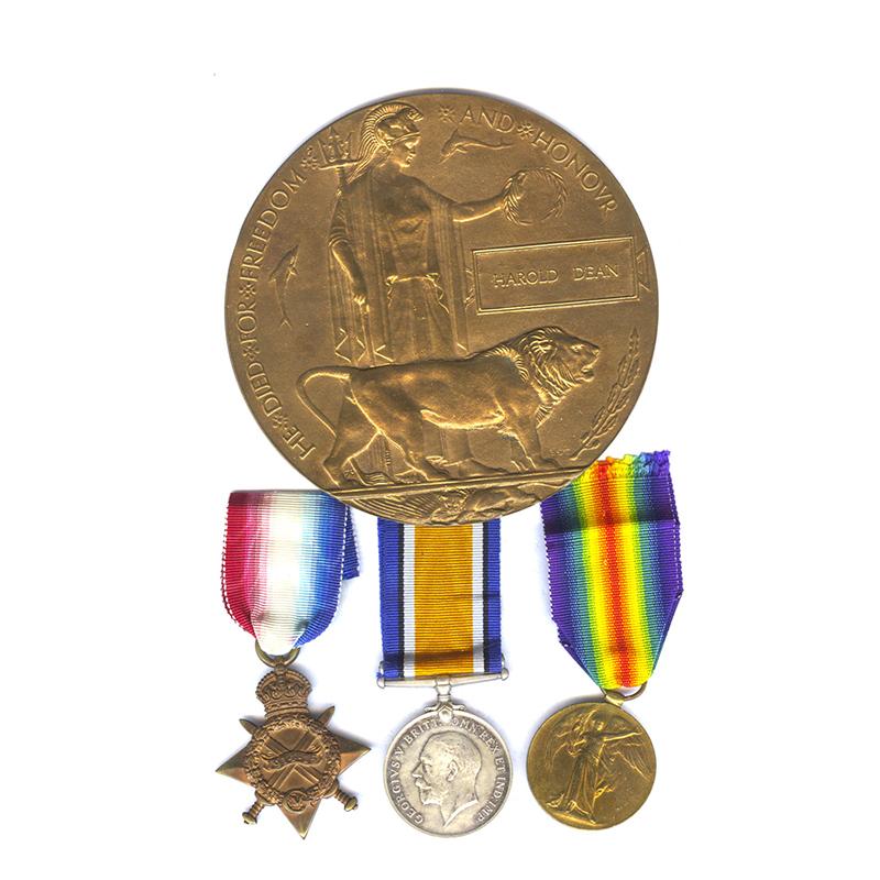 1914-15 Trio Plaque Manchester KIA Gallipoli 1