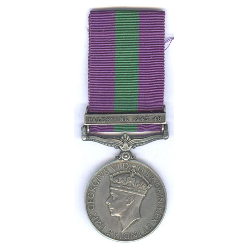 General Service Medal (GVI) Palestine 1945-48 1