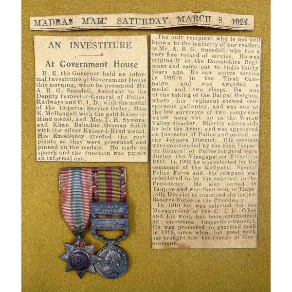I.S.O. I.G.S. 1895 Inspector CID 2