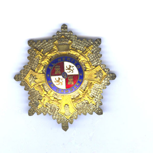 Order of Maria Christina military breast star 1st class  Franco 1