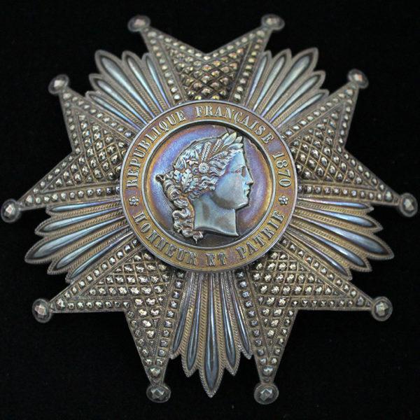 Legion D'Honneur 1870-1951 Grand Officer breast star 1