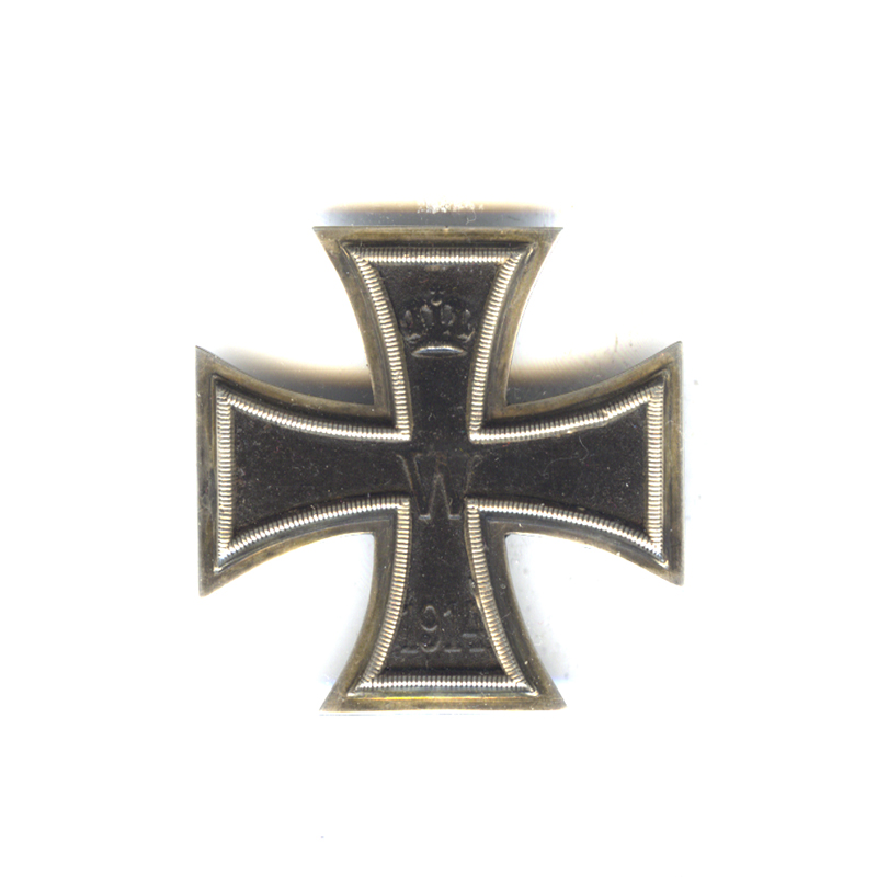 Iron Cross 1914 1st class pin back in silver marked 800 on... 1