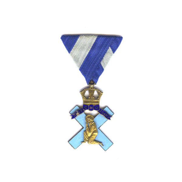 St. Andrews Blue Cross Merit Decoration breast badge for war wounded in... 1