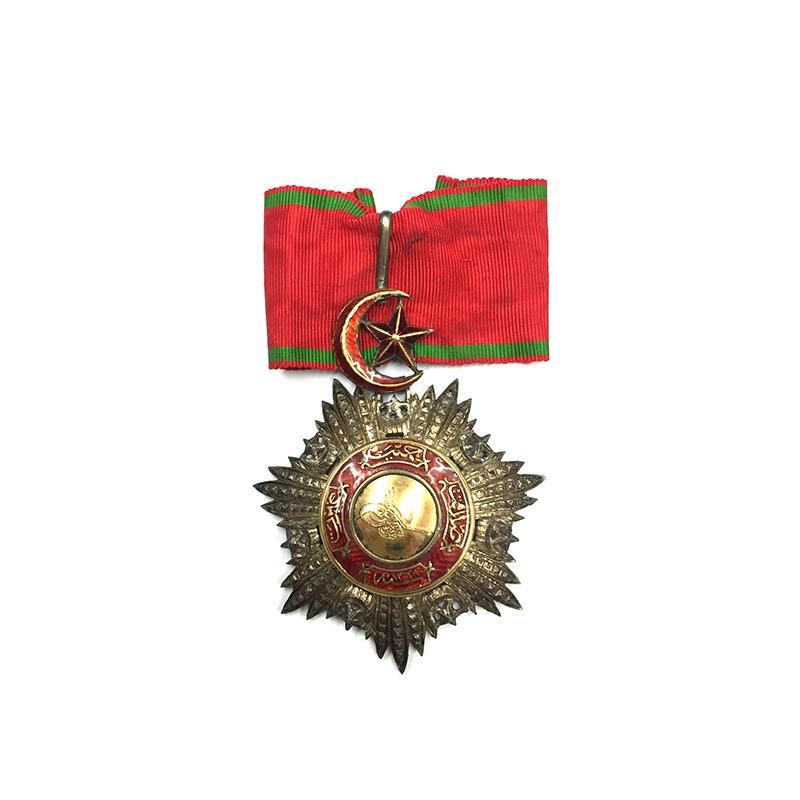 Order of the Medjidie Commander  neck badge  all gold  centre 1