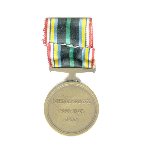 Medal Sphinx 1938-45 1970 General Strzelczyk bronze 2