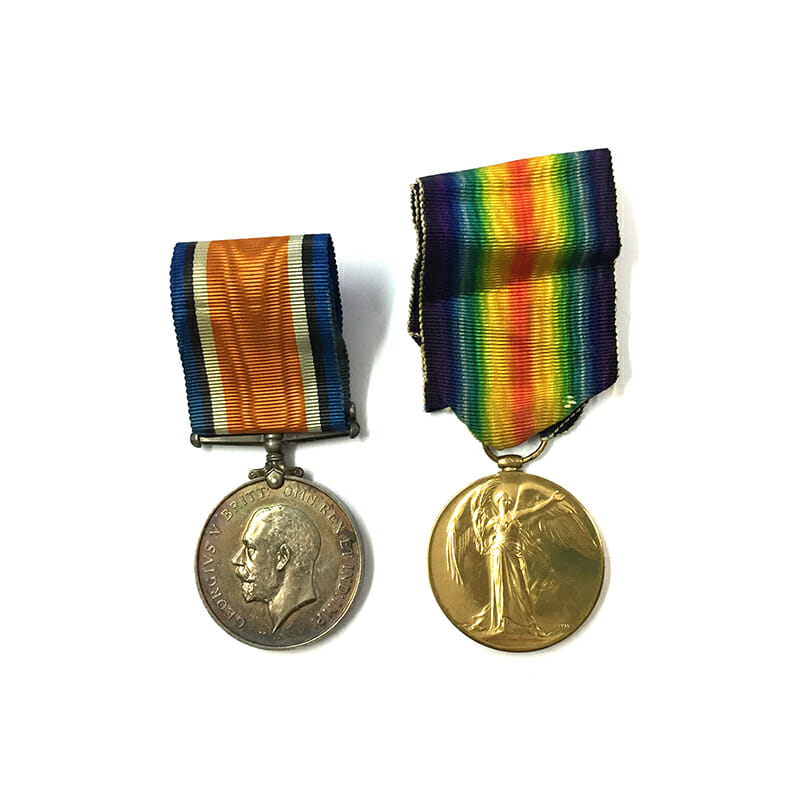 WW1 Pair 2nd Lieut Black Watch KIA 1