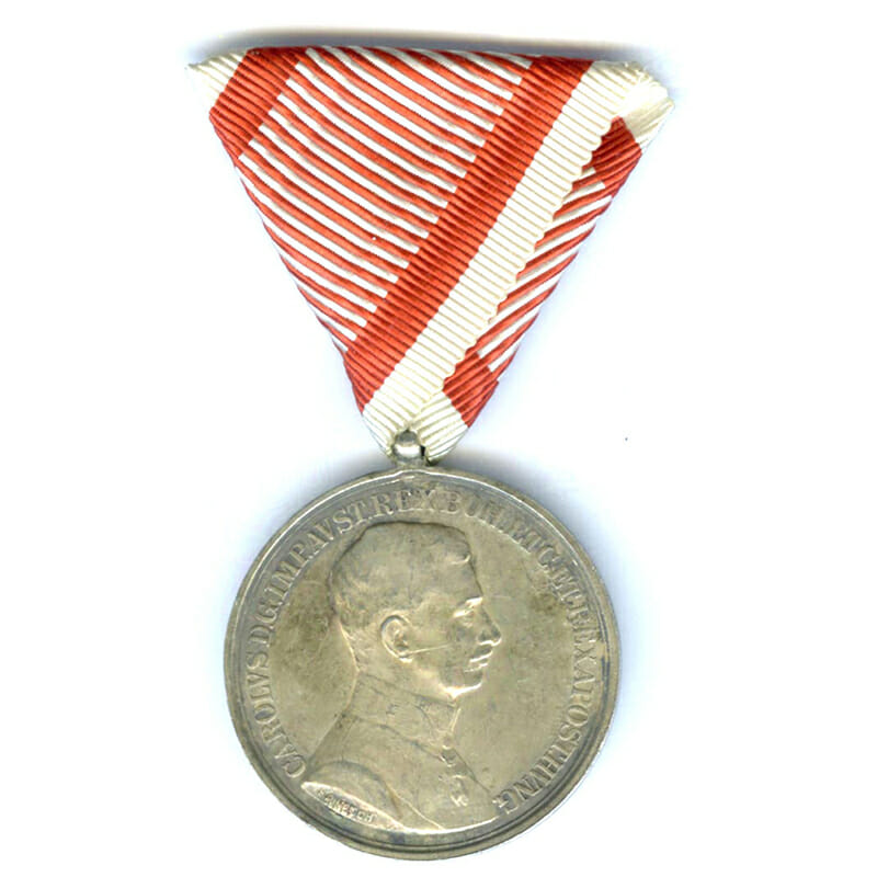 Medal for Bravery Carolus  large silver  by Kautsch 1