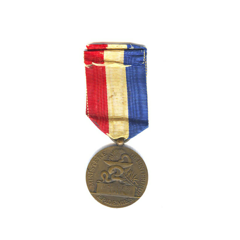 Medal of Honour for Epidemics Ministry of the Interior bronze embossed naming... 2