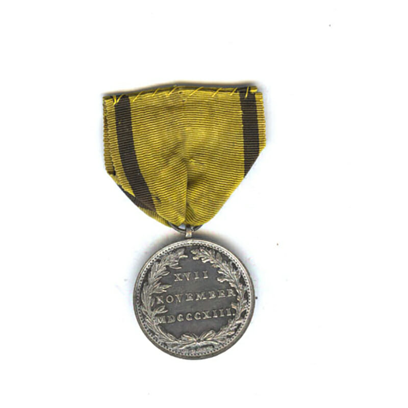 Hague Volunteers  1813 silver  by H. D. Heus F. 29mm 2
