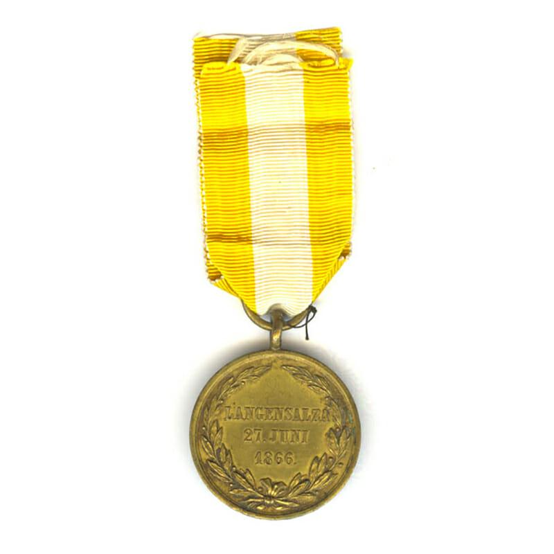 Lagensalza medal 1866 impressed to H Keutz 2