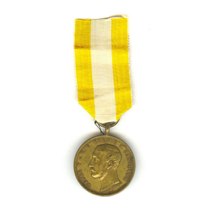 Lagensalza medal 1866 impressed to H Keutz 1