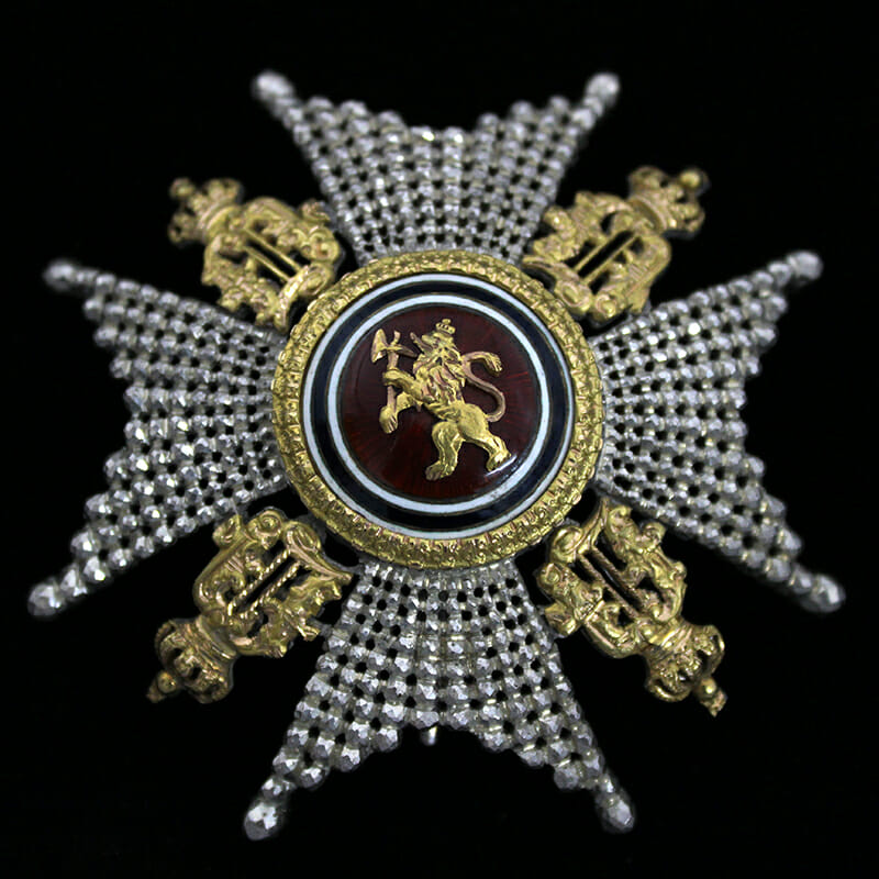 Order of Olaf Grand Officer breast star 1