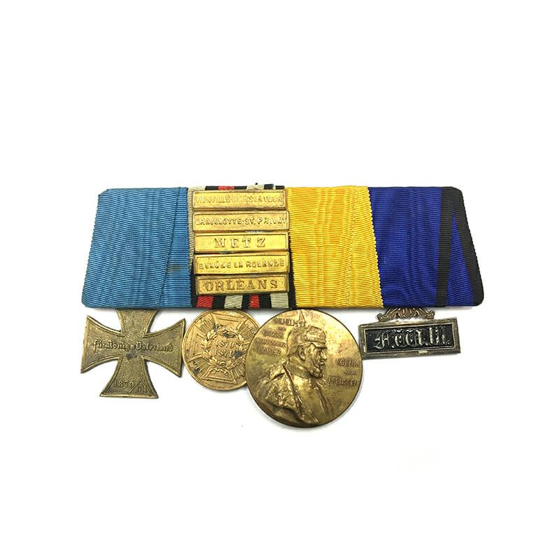 Group of 4  : Franco Prussian War Veterans Cross 1870/71, 1