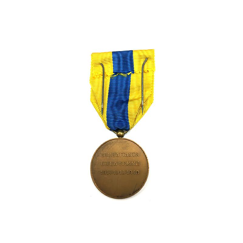 Somme Combattants Medal 1914-18-1940 2