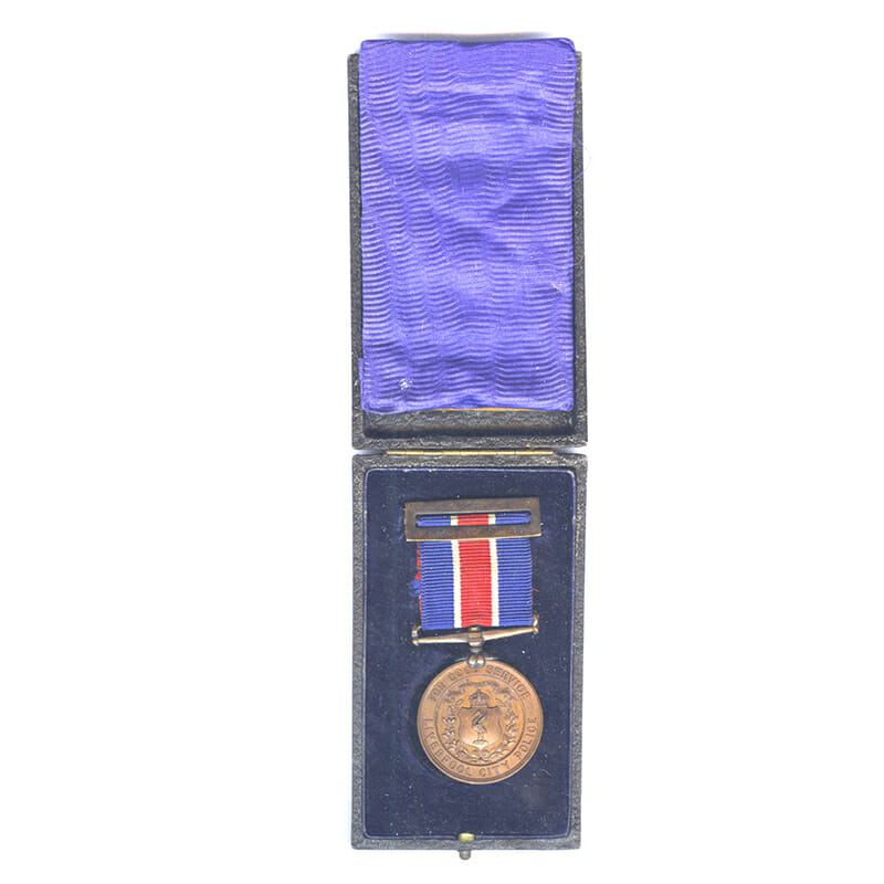 Liverpool City Police Medal Bronze 1