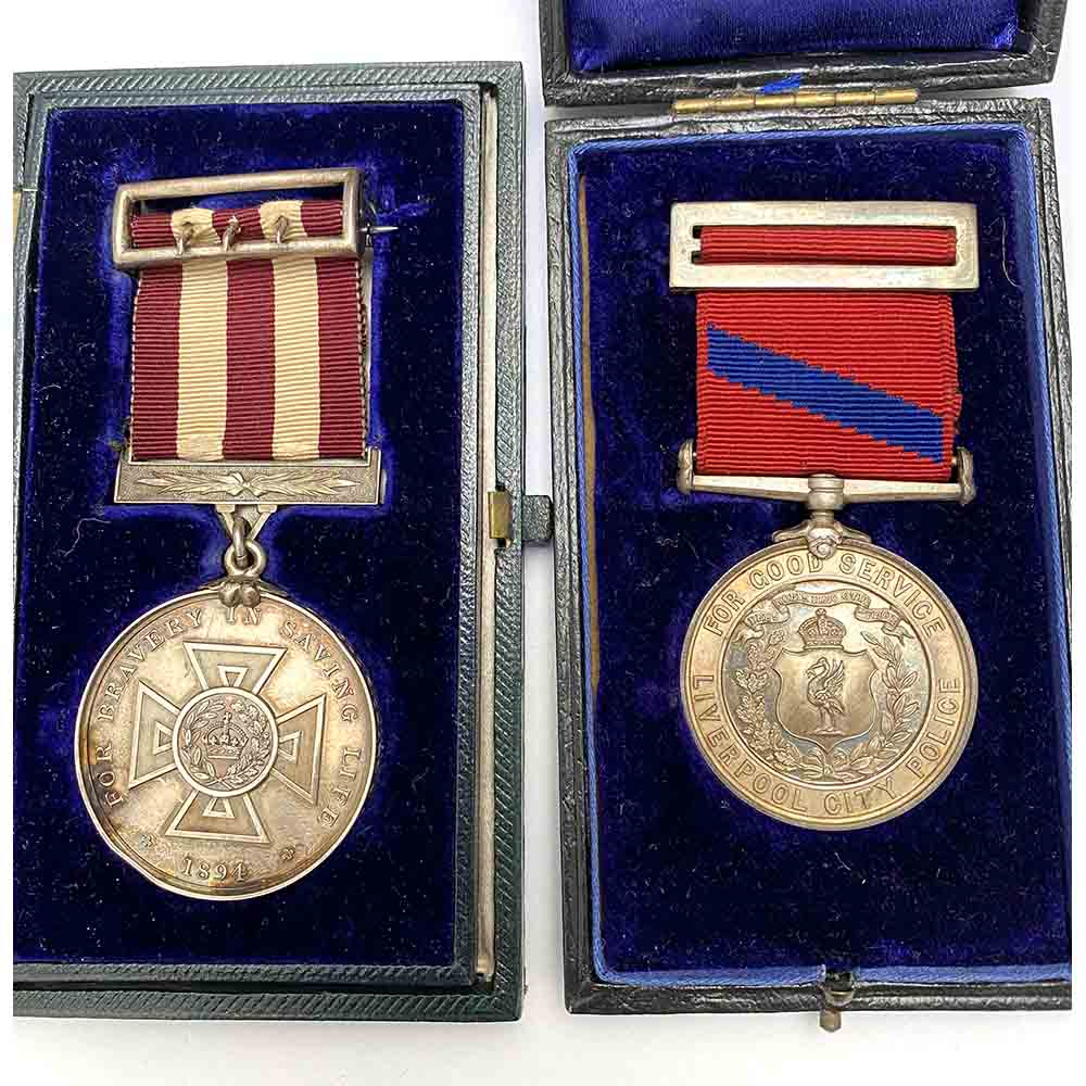 Liverpool Shipwreck General medal and Police Inspector 1