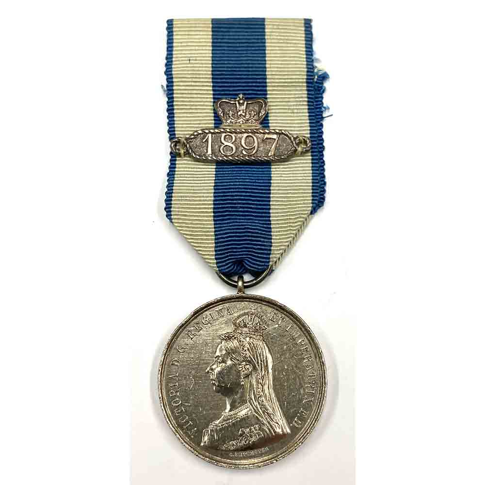 1887 Jubilee Medal, with 1897 Clasp, Silver 1