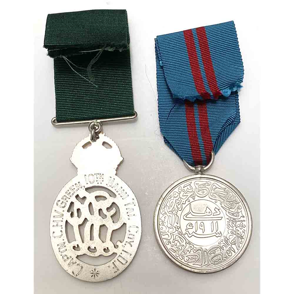 Indian Volunteer Officer Decoration 1911 Durbar Pair 2