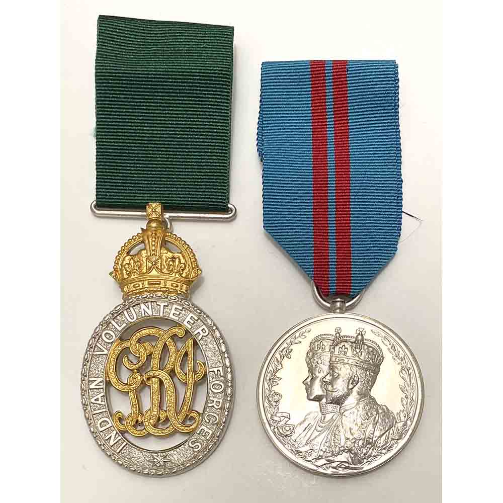 Indian Volunteer Officer Decoration 1911 Durbar Pair 1