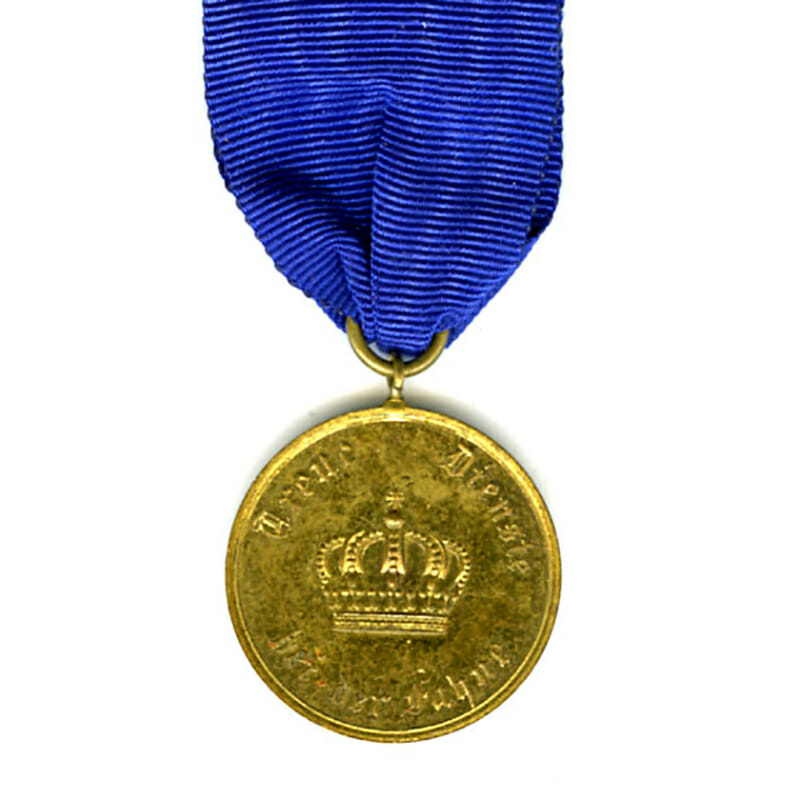 Military  L.S. medal 12  years bronze gilt 1