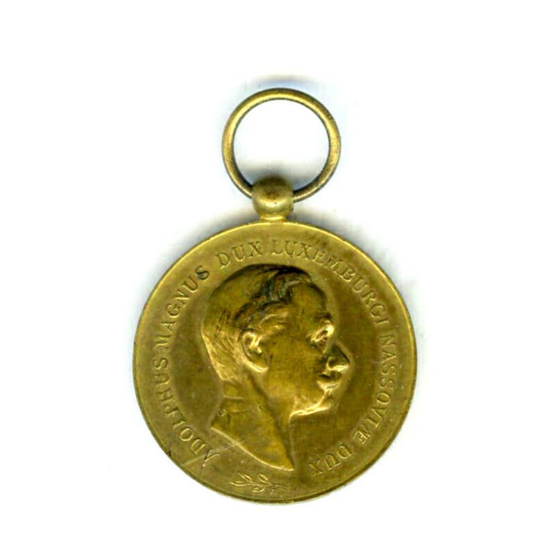 Order of Adolph of Nassau Gold (gilt)  Merit medal 1