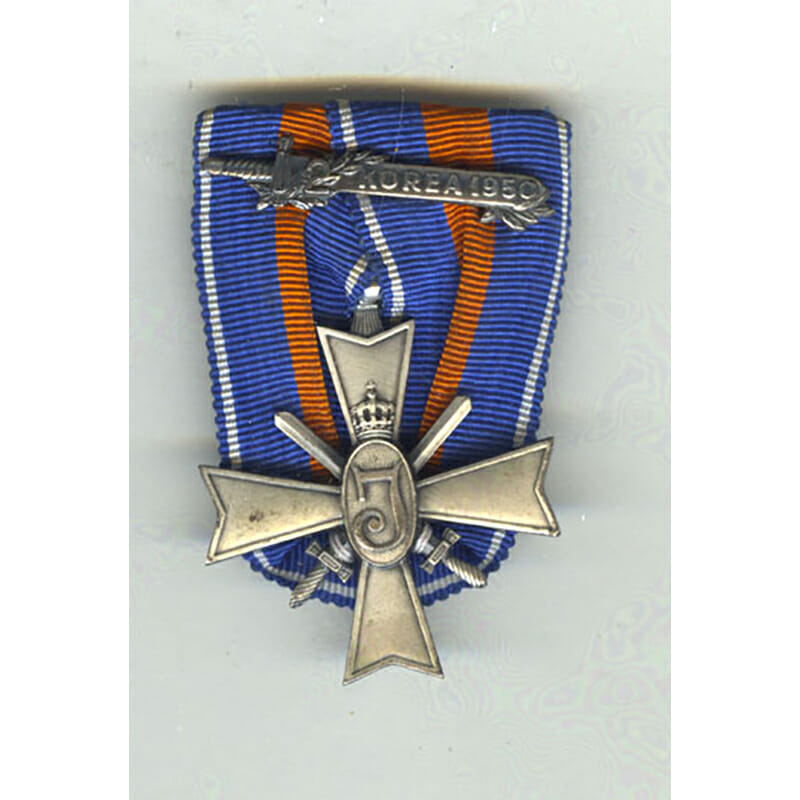 "Korea  Cross for Justice and Freedom sword bar with ""2 "" 1950 1"