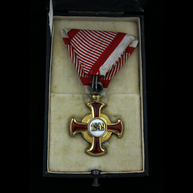 Golden Merit Cross 1849 small  type bronze gilt 2